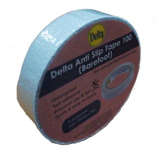 Delta Anti Slip Tape (Barefoot) 25mm x 5m